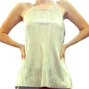 THE LIMITED NWT shiny silver tank top